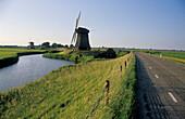 Windmills near Schermerhorn, Netherlands, Europe
