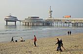 Scheveningen, beach and pier, Noordeinde, Netherlands, Europe
