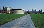 Museumsplein with Rijksmuseum and Van Gogh Museum, Amsterdam, Holland, Netherlands