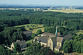 aerial photo of Riddagshausen monastery, near Braunschweig, Lower Saxony, northern Germany