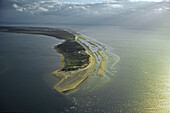 aerial photo of Amrum, one of the North Frisian Islands on the German coast of the North Sea in the Federal State of Schleswig Holstein, Germany
