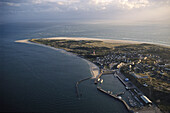 aerial photo of Amrum, North Frisian Island on the German coast of Schleswig Holstein, Germany