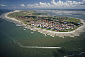 aerial photo of Norderney island, East Frisian island, Lower Saxony, northern Germany, North Sea