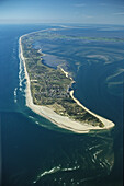 aerial photo of North Frisian island, Sylt in the federal state of Schleswig-Holstein, North Sea, Germany