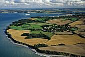 aerial photo of fields, Bay of Lübeck, near Timmendorf, Baltic Sea, Schleswig Holstein, northern Germany