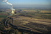 aerial photo coal fired power plant at Buschhaus near Helmstedt, Saxony-Anhalt, Germany