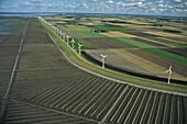 Wind energy plant, North Sea coast, Schleswig-Holstein, Germany