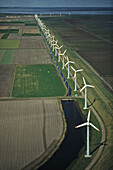 aerial photo of wind farm, North Sea coast, Schleswig Holstein, northern Germany