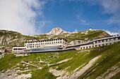 Hotel Pilatus Kulm at mountainside of Pilatus (2132 m), Pilauts Kulm, Canton of Obwalden, Switzerland