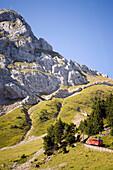 Pilatus Railway, the steepest cog railway in the world, Lake Lucerne, Pilatus (2132 m), Alpnachstad, Canton of Obwalden, Switzerland