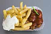 Curry sausage and french fries, Berlin