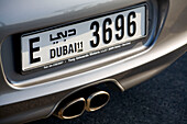 Dubai car number plate Porsche