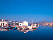 Fishing harbour, Paros, Naoussa, Cyclades, Greece