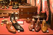 Palma  Mallorca, shop window, luxery shoes