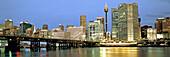 Austalia, sydney,Darling harbour, Panorama at twilight