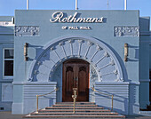new zealand South island, Napier,art co building, Rothmans of Pall Mall, entrance, tabacco factory