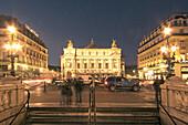 France,Paris,opera garnier at night