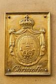 Paris France Rue Royale Christofle shop emblem