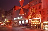 France, Paris, Moulin Rouge Windmill, dance theater, nightclub