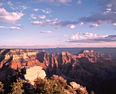 USA Arizona Gran Canyon Noth Rim View Point, Bright Angel Point