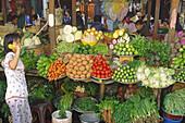 Market with vegetables, Hanoi, Vietnam