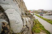 Sculptures at Qaqortoq (former Julianehab), by local artist Aka Hoegh, South Greenland.