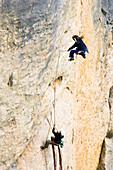 Falling climber, Gorges de la Jonte, Cevennen, France