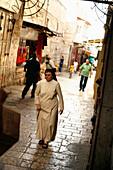 A nun, Jerusalem, Israel