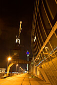 modern architecture, district of media, television tower, new district of Düsseldorf, harbor, state capital of NRW, North-Rhine-Westphalia, Germany