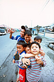 group of children in Kintamani, Bali, Indonesia, Asia, joy, happiness, happy, having fun, lifestyle,together, swarm of children, tourism, tourist, friendly, open minded, laughing, meeting, meet