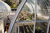 Botanical Garden, Jardin Botanico, Spain's first botanical garden, school children visit a glass house, Valencia, Spain
