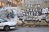 Graffiti an Wand Valencia, Spanien