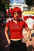 Female Motor Sport fan, Formula 1 Grand Prix, F1, Monte Carlo, Monaco, Europa
