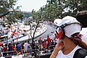 Spectators watching the race at Formula 1 Grand Prix, F1, Monte Carlo, Monaco, Europa