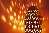 Close up of a lantern, Lamp, Riad Kaiss, Marrakech, Marocco, Africa