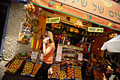 A fruit and vegetable stall, Sheinkin Straße, Tel-Aviv, Israel