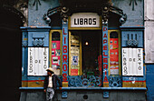 A local man standing outside a book shop, Mexico City, Mexico
