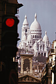 View of the Catholic basilica, Sacre-Coeur, Paris, France