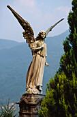 Sculpture of an Angel, Morvore, Lake Lugano, Ticino, Switzerland