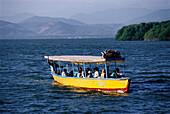 Excursion boat, Laguna de Cayuca, Pie de la Cuesta, near Acapulco, Mexico, America