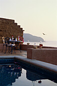 Suite with romantic dinner for two, Small Luxury Hotel, La Casa que canta Zihuatanejo, Guerrero, Mexico, America