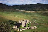 Castle ruins near Clifden, Galway, Republic of Ireland