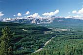 View of Jasper, Jasper National Park, Rocky Mountains, Alberta, Canada