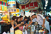Locals, people eating at Shilin Night Market, Taipeh, Taiwan, Asia