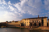 Vasari Corridor and Uffizi Gallery at Arno river,  Florence, Tuscany, Italiy