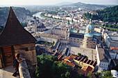 View from Festungberg hill over Salzburg, Salzburg (state), Austria