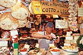 Market hall, Mercato Centrale, mercato di Dan Lorenzo, Florence, Tuscany, Italy