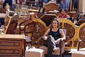 Antiques market, Arezzo, Tuscany, Italy