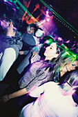 A group of young people, Teenager, dancing inside Discotheque Les Bains Douche, Nightlife, Party, Paris, France