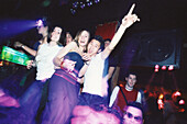 Young people, teenager celebrating, dancing in Les Bains Douche, Disco, Nightlife, Paris, France